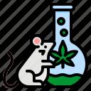 cannabis, lap, mouse, test, tube icon
