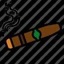cigar, medical, nicotine, smoking, tobacco icon