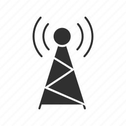 connection, radio signal, tower, tv waves icon