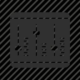 audio, audio board, audio mix board, mix board icon