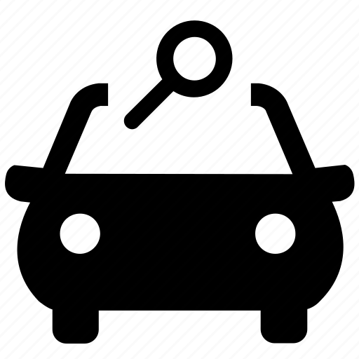 automobile, car, explore, find, search, vehicle, view icon