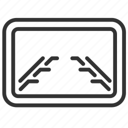 camera, car, monitor, parking, system, vehicle icon
