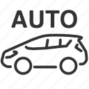 auto, autopilot, car, drive, vehicle icon