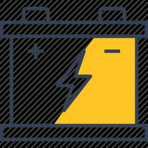 accumulator, car, service, transport icon