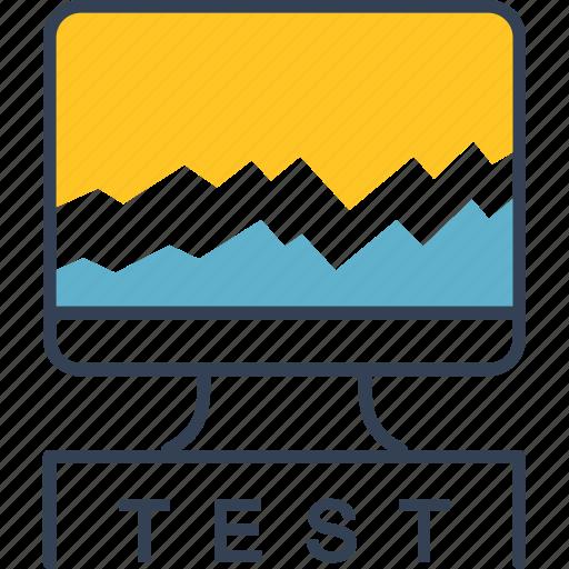 car, computer, test, transport icon
