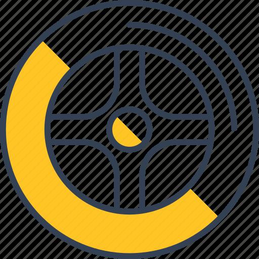 car, drive, wheel icon