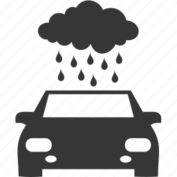 auto, cloud, rain, traffic, transport icon