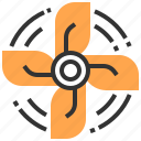 accessories, air, automobile, car, fan, service icon