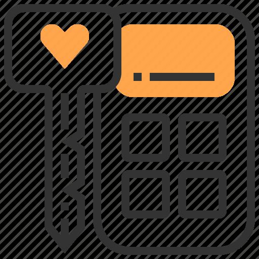 accessories, automobile, car, key, remote, service icon