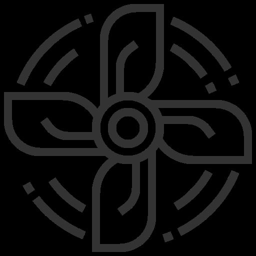 accessories, automobile, car, fan, service icon