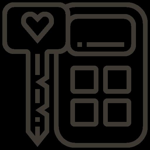 accessories, automobile, car, key, remote, security, service icon