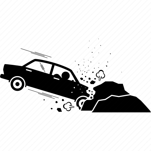accident, car, crash, vehicle icon