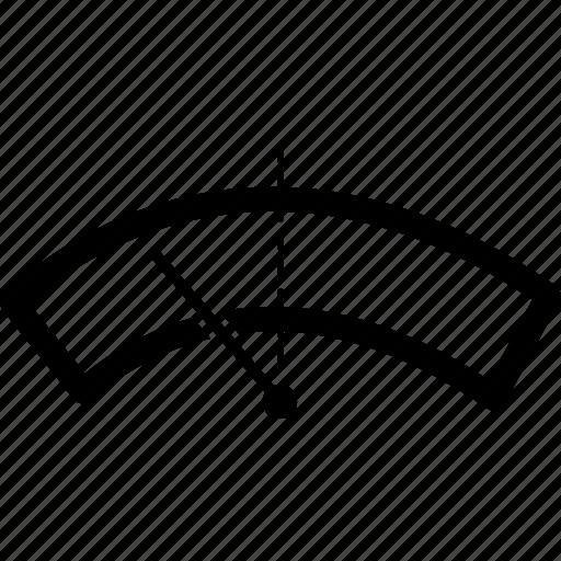 arrow, crisp, fuel gauge, gauge, line, speed, speedometer icon