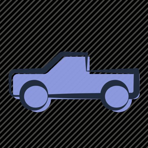 automobile, car, truck, ute, utility, vehicle icon