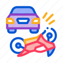 accident, burning, by, car, crash, hit, motorcycle
