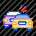 accident, airbag, burning, car, crash, overtaking, previous