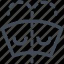 car indicator, dashboard, fluid, low level, warning, windscreen fluid icon