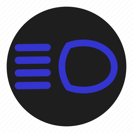 beam, blue, dashboard, full, high, light, main icon
