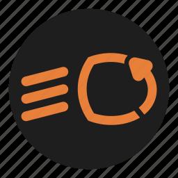 adaptive, auto, beam, dashboard, lighting, regulate icon