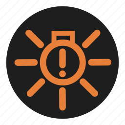 dashboard, exterior, fault, light icon