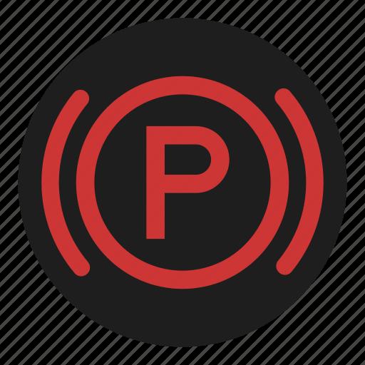 brake, dashboard, parking, stop icon