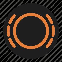 brake, dashboard, pads, stop, warning, wear icon