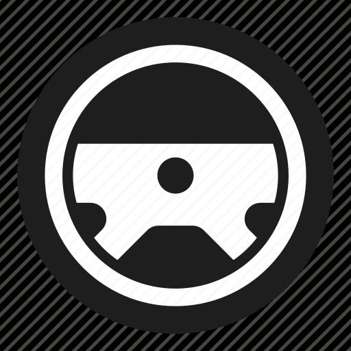 dashboard, steering, wheel icon