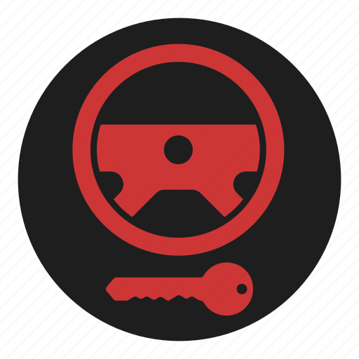 dashboard, immobilizer, key, lock, steering, warning, wheel icon
