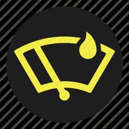 dashboard, detector, rain, sensor, wiper icon