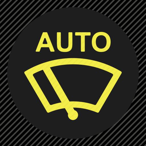 auto, car, dashboard, sensor, window, windscreen, wiper icon