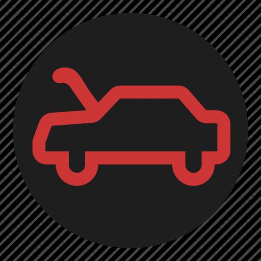 bonnet, dashboard, hood, open icon