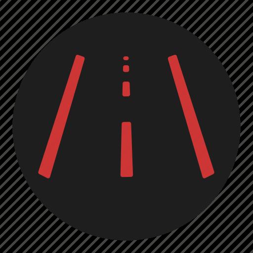 change, dashboard, lane, road, warning icon