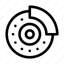 automobile, brake, car, disc, disc brake, repair, transportation icon