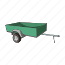car, cargo, equipment, towbar, trailer, transportation, vehicle icon
