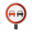 car, overtaking, prohibition, road, sign, symbols, transport icon