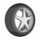 car, detail, disc, rubber, tire, vehicle, wheel icon
