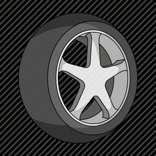 car, detail, disc, rubber, tire, vehicle, wheel icon