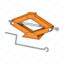 equipment, jack, lever, lift, machine, tool icon