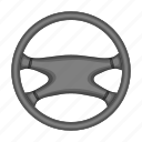 equipment, machine, part, steering, wheel icon