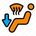 air, climate, control, direction, face, heat, vent icon