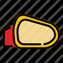 car, mirror, rearview icon