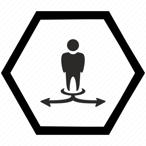arrow, choice, left, motion, right, way icon