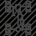 auto, car, frame, ready, suspension icon