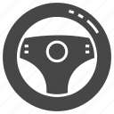 car, steering, wheel icon