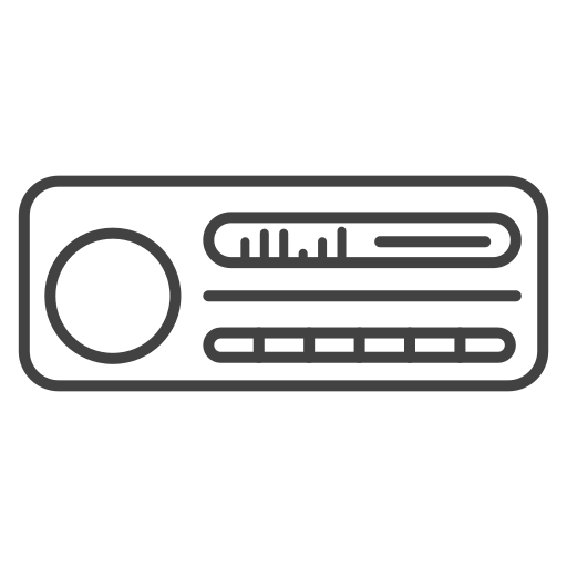 car stereo, media, multimedia, music, play, player icon