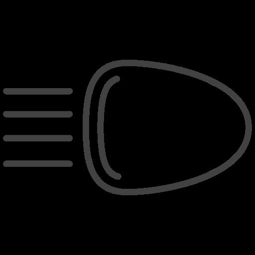 beam, headlamp, headlights, headlights on, light icon