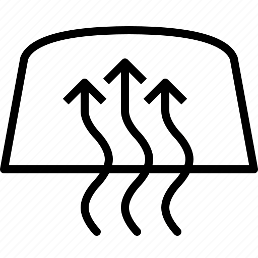 arrows, cars, circulation, heating, vehicle, windshield, yumminky icon