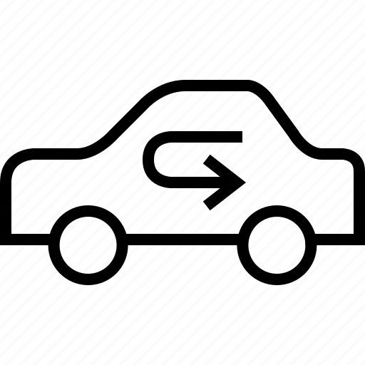 air, arrow, cars, recirculation, vehicle, ventilation, yumminky icon