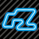formula, raceway, track icon