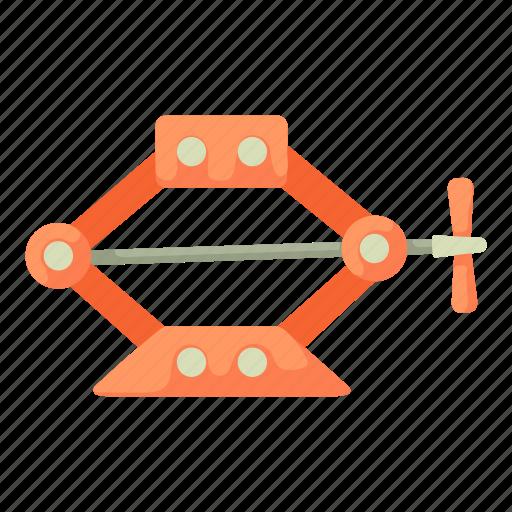 automobile, cartoon, jack-screw, screw, service, transport, vehicle icon